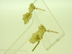 Photo2: K18YG DIA EARRING