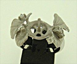 Photo1: K18WG DIA RING